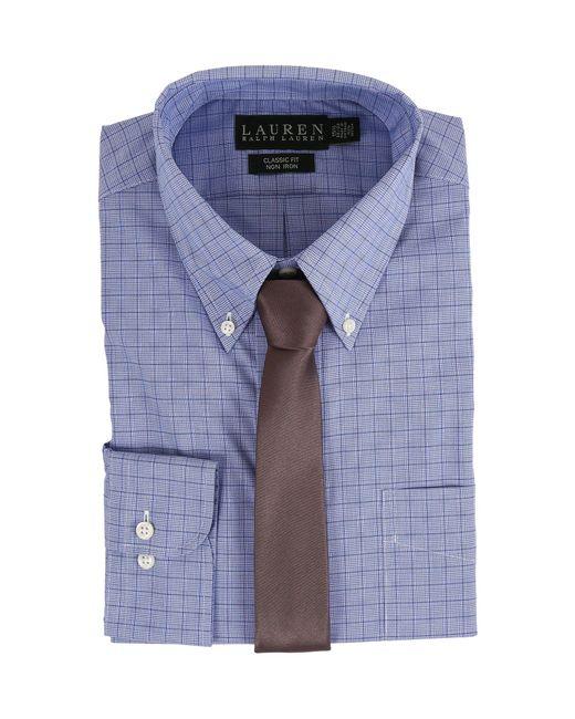 Lauren by Ralph Lauren - Glen Plaid Classic Button Down Shirt (blue) Men's Long Sleeve Button Up for Men - Lyst