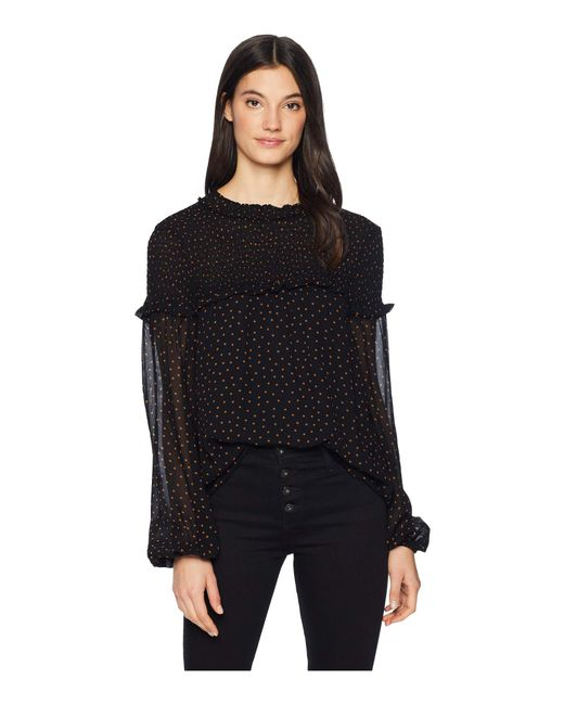 Sanctuary - Black Bria Smocked Blouse (spice Of Life Dots) Women's Blouse - Lyst