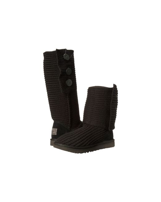 Ugg - Black ® Classic Cardy Button Detailed Knit Boots - Lyst