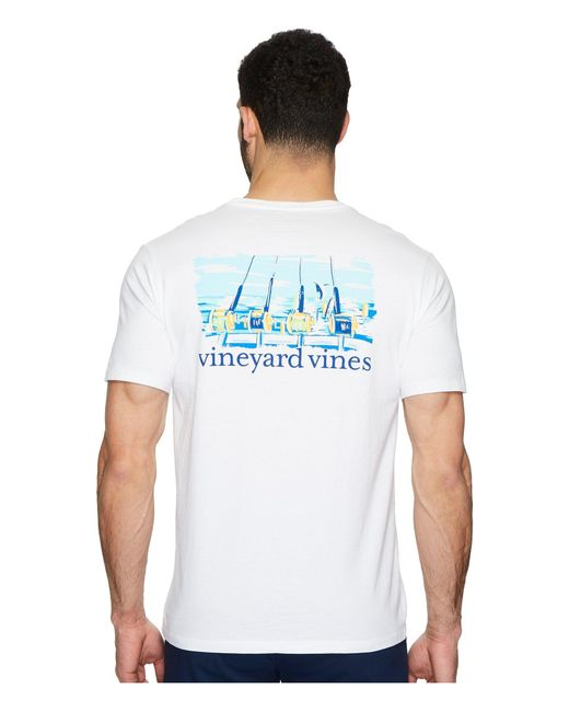 Vineyard Vines - White Short Sleeve Fishing Excursion Pocket Tee for Men - Lyst