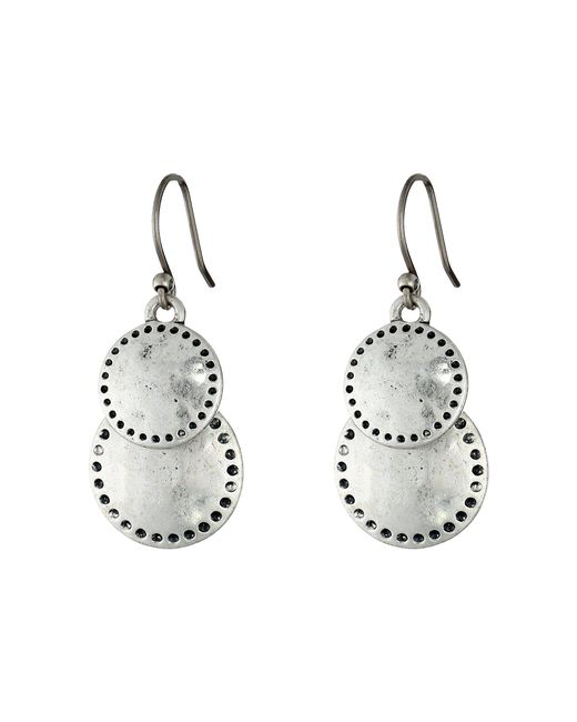Lucky Brand - Metallic Double Drop Earring (silver) Earring - Lyst