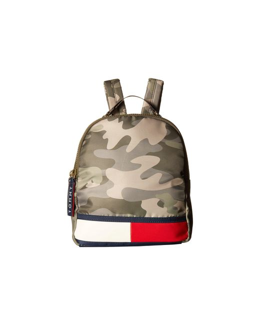 Tommy Hilfiger - Green Nori Flag Camo Nylon Backpack - Lyst