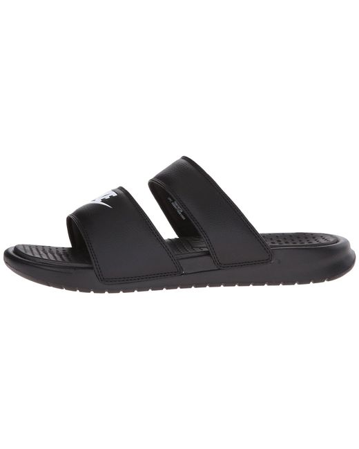 c75db6f6274d2 ... Nike - Black Benassi Duo Ultra Slide (white metallic Silver) Women s  Slide Shoes ...