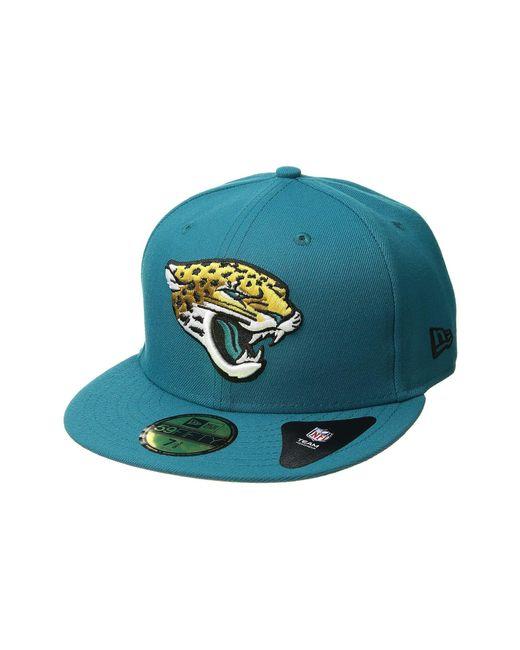 d25e2fb2b97 KTZ - Multicolor 5950 Nfl Basic Jacksonville Jaguars (team Color) Baseball  Caps for Men ...
