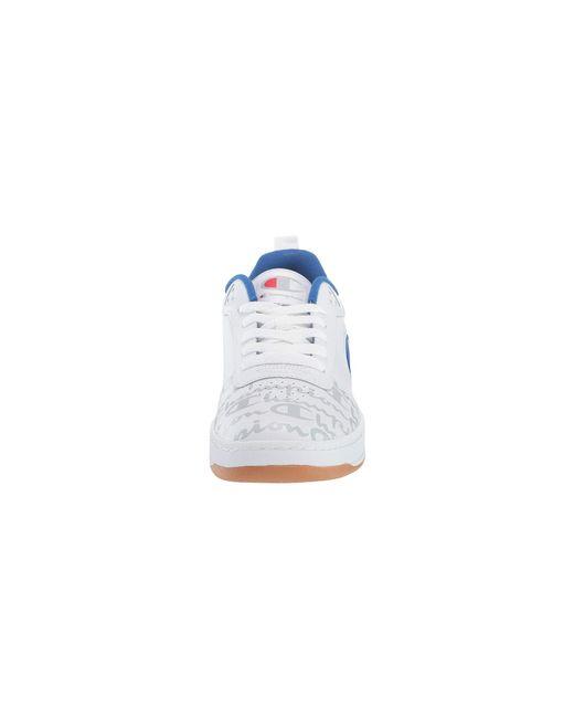 91cca1db699a7 ... Champion - White Super C Court Low Print (red) Men s Classic Shoes for  Men