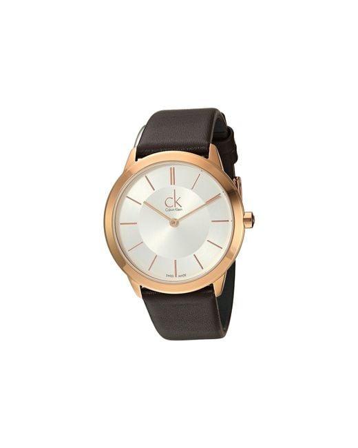 CALVIN KLEIN 205W39NYC - Multicolor Minimal Watch - K3m226g6 for Men - Lyst