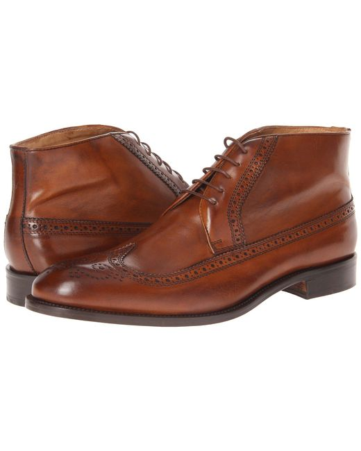 Massimo Matteo - Brown 5-eye Chukka Wing (black) Men's Lace-up Boots for Men - Lyst