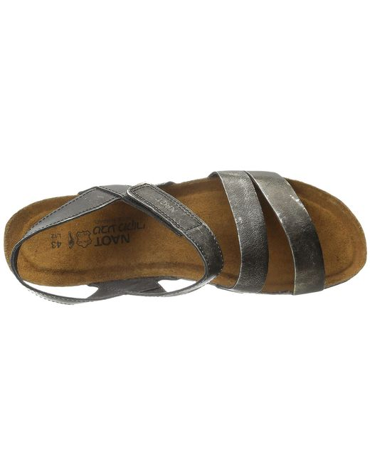 31a9064e836d ... Lyst Naot - Gray Kayla (black Luster Leather) Women s Sandals ...