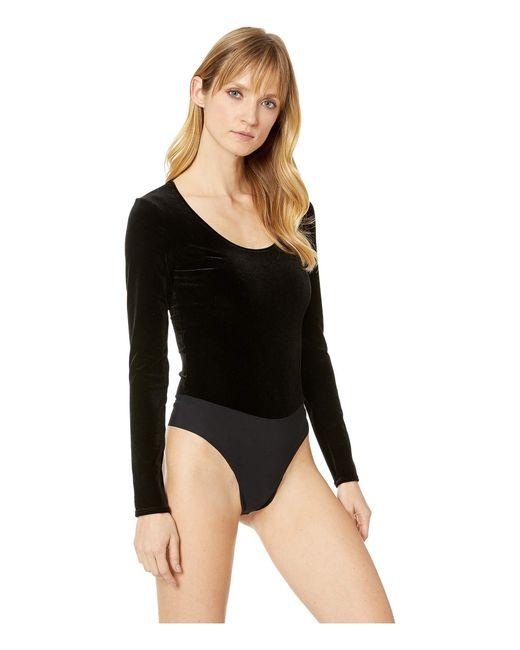 ... Commando - Velvet Long Sleeve Bodysuit Bds023 (black) Women s Jumpsuit    Rompers One Piece ... 01a7ddb84