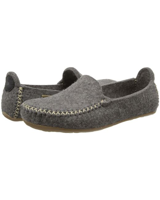 Haflinger - Gray Moccasin (grey) Slippers - Lyst