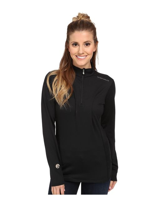 Hot Chillys | Black Micro-elite Chamois 8k Solid Zip-t | Lyst