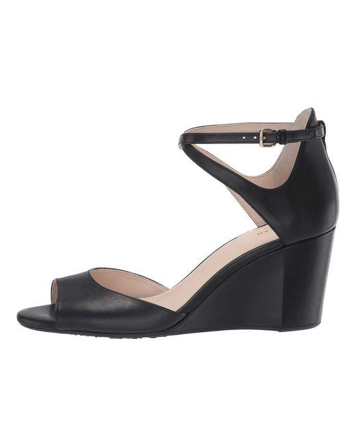 b6844bd4038 ... Cole Haan - Black 75 Mm Sadie Grand Open Toe Wedge Sandal (mahogany  Rose Leather ...