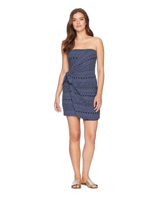 Free People - Oceanside Mini Dress (blue) Women's Dress - Lyst
