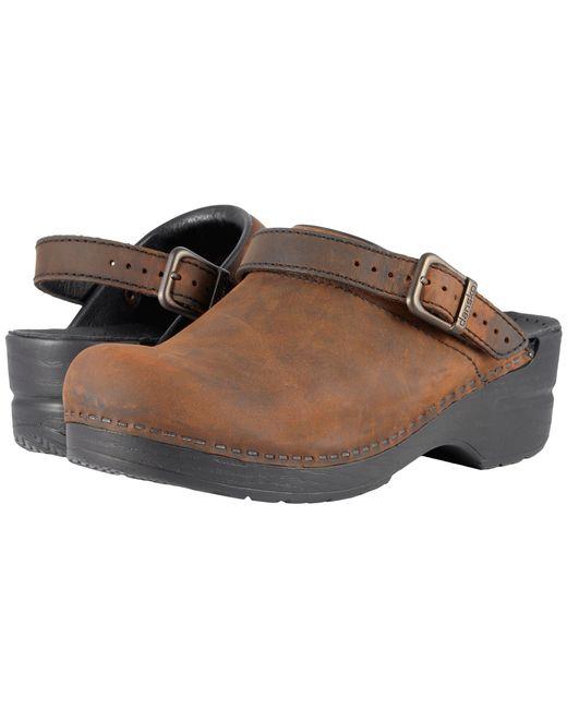 Dansko - Brown Ingrid (black Oiled) Women's Clog Shoes - Lyst