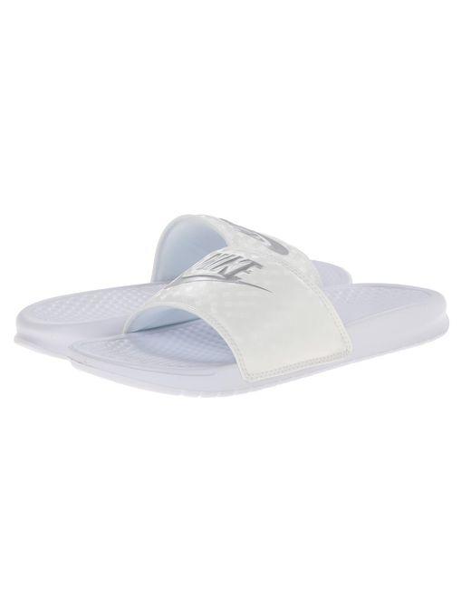 Nike | White Benassi Jdi Slide | Lyst