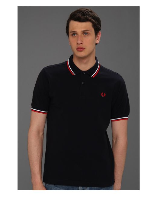 Fred Perry | Blue Twin Tipped Shirt for Men | Lyst