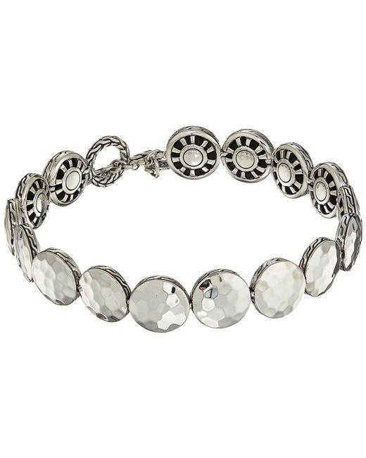 John Hardy - Metallic Dot 10.5mm Hammered Link Bracelet (hammered Silver) Bracelet - Lyst