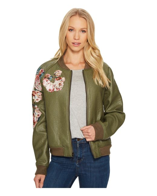 Joe's Jeans | Green Embroidered Poly Jacket | Lyst
