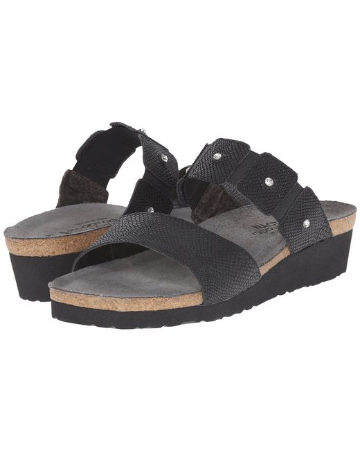 2dc8406d8a3d Lyst - Naot Ashley (black Madras Leather) Women s Sandals in Black