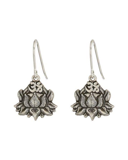 ALEX AND ANI - Metallic Lotus Peace Petals Hook Earrings - Lyst