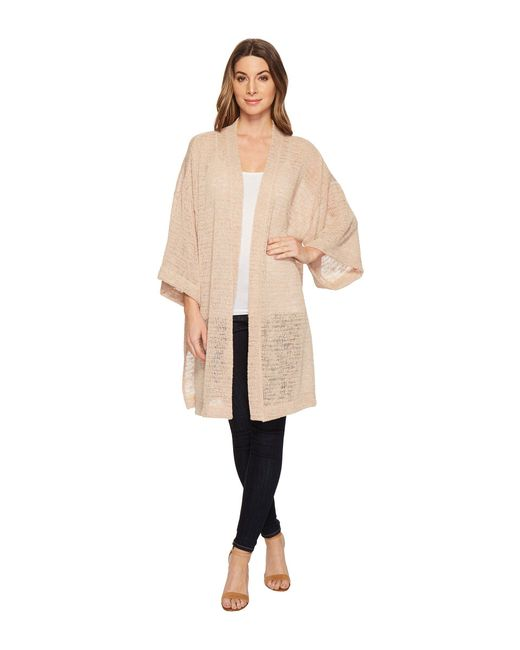 Nally & Millie - Natural Open Long Cardigan - Lyst