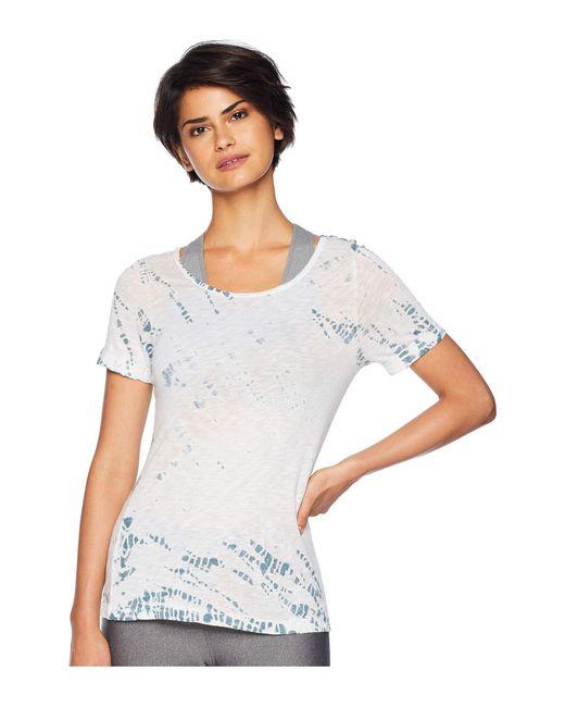 Hard Tail - White Short Sleeve Crew Tee (space Dye 1) Women's T Shirt - Lyst