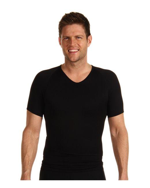 Spanx | Black Zoned Performance V-neck for Men | Lyst
