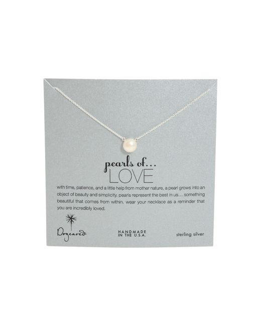 Dogeared | Metallic Pearls Of Love Necklace | Lyst