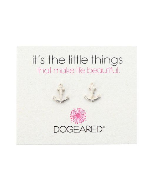 Dogeared   Metallic It's The Little Things Anchor Studs   Lyst