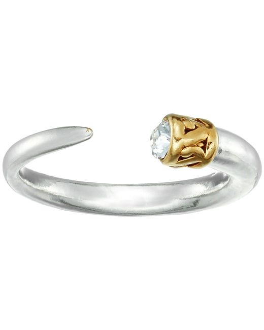 ALEX AND ANI - Metallic Horn Ring (14kt Gold Plated) Ring - Lyst
