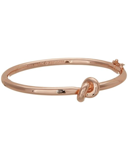 kate spade new york | Pink Sailor's Knot Hinge Bangle | Lyst