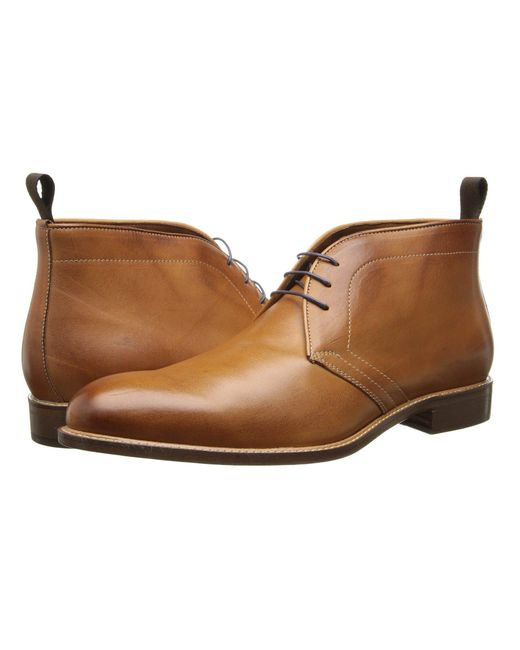 Massimo Matteo - Orange 3-eye Chukka (brandy) Men's Lace-up Boots for Men - Lyst