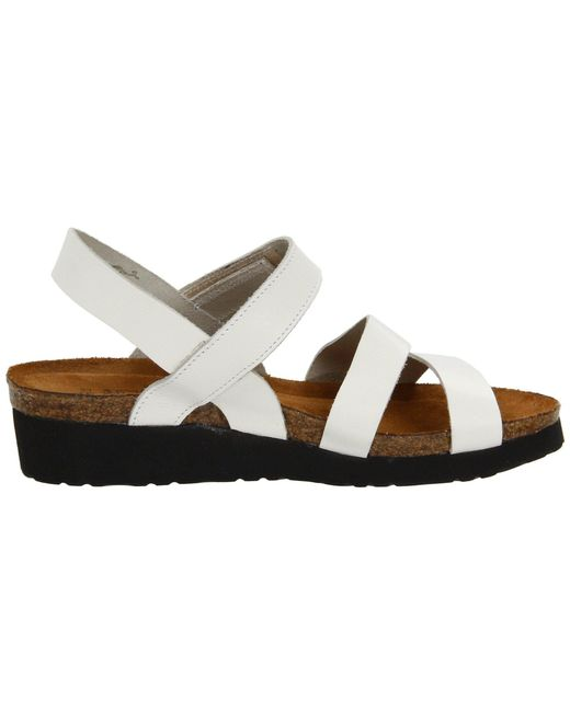 e93a079be97b ... Lyst Naot - White Kayla (black Luster Leather) Women s Sandals ...
