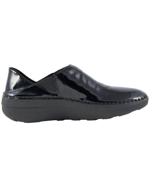 297c557ed62 Lyst - Fitflop Superloafer Patent (black) Women s Slip On Shoes in Black