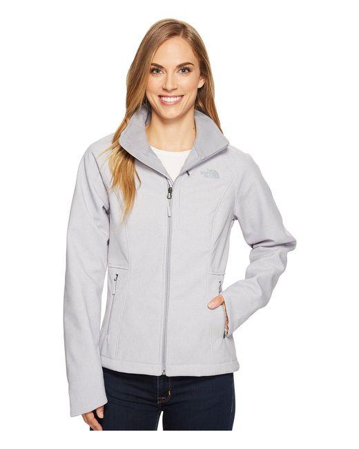 The North Face - Gray Apex Bionic Jacket (tnf Black/mid Grey) Women's Coat - Lyst