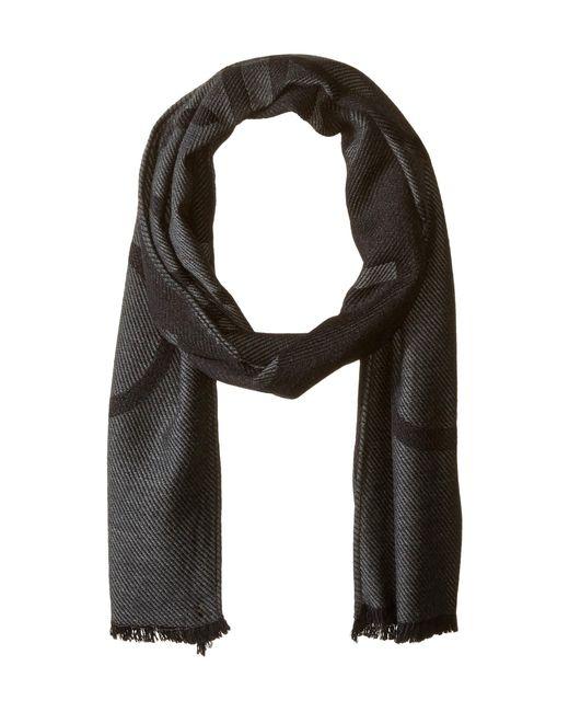Calvin Klein - Black Woven Twill Logo Scarf (navy) Scarves for Men - Lyst