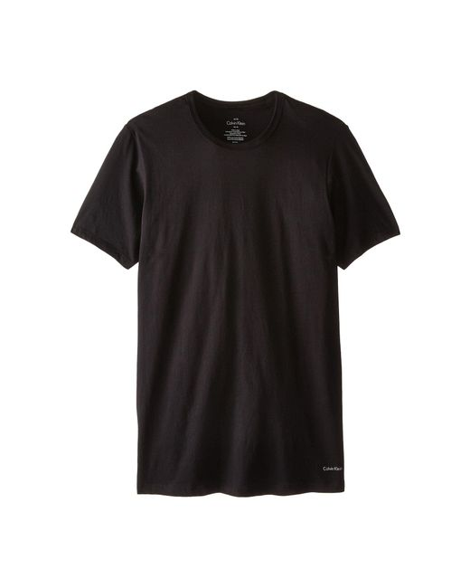 Calvin Klein | Black Short Sleeve Cotton Classic Slim Fit Crew for Men | Lyst