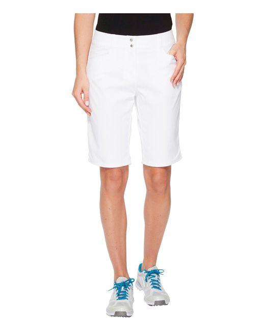 Adidas Originals - White Essentials Lightweight Bermuda Shorts (grey Three) Women's Shorts - Lyst