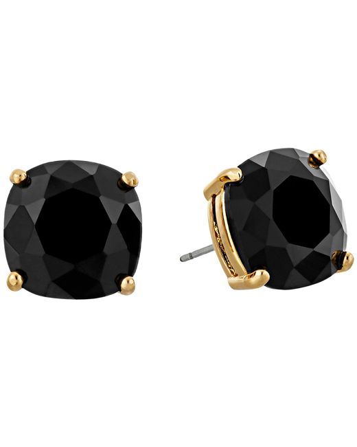 kate spade new york | Black Small Square Studs | Lyst