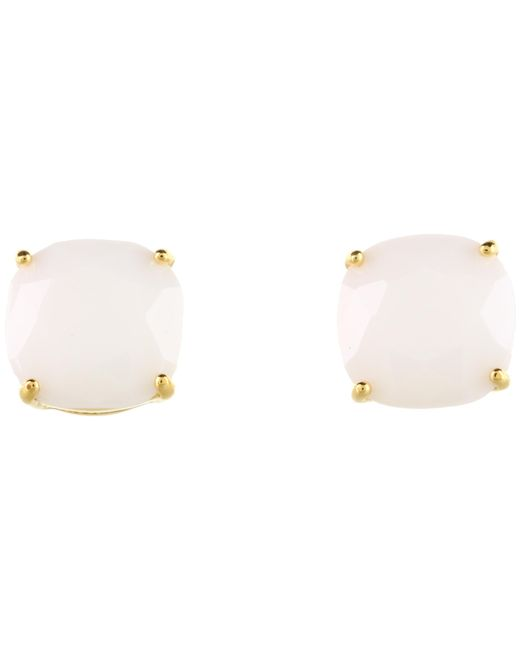 Kate Spade | White Small Square Studs | Lyst