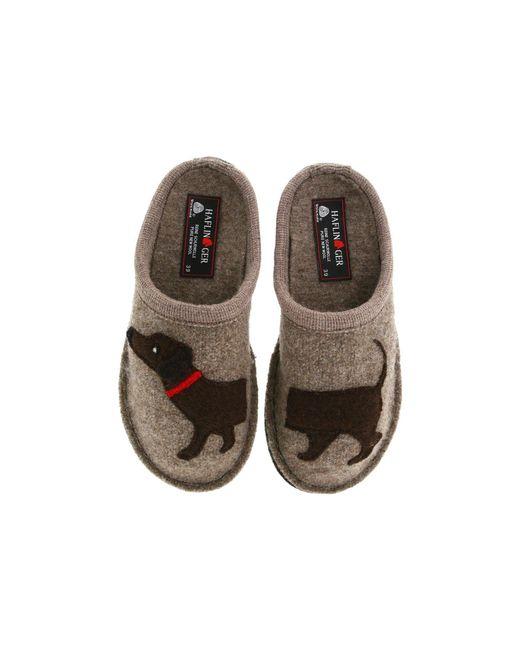 Haflinger | Brown 'doggy' Slipper | Lyst