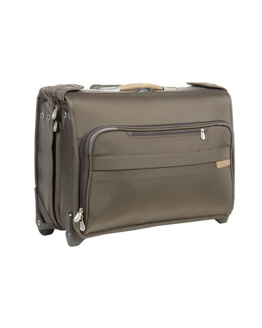 Briggs & Riley   Green Baseline Carry-on Wheeled Garment Bag 2   Lyst