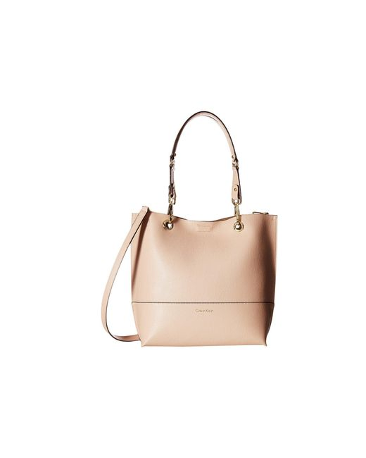 Calvin Klein - Natural Unlined Tote (dessert Taupe) Tote Handbags - Lyst