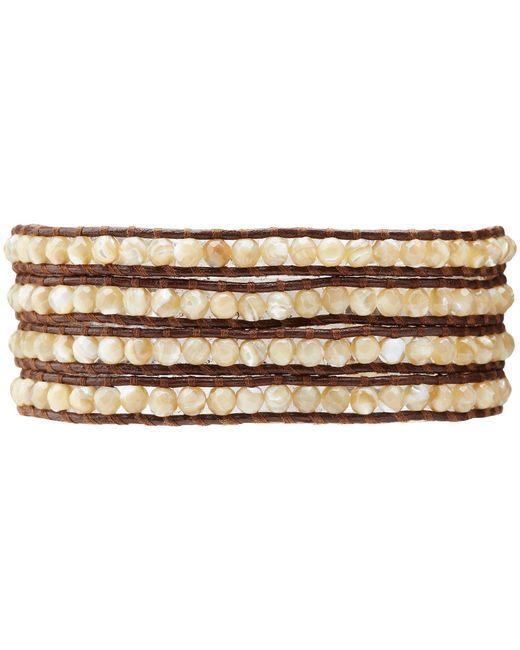 Chan Luu   Brown Semi Precious Stone Bracelet   Lyst