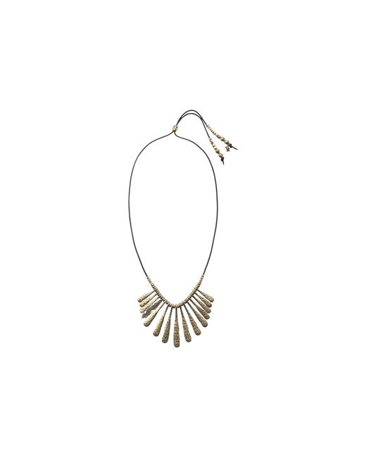 Lucky Brand | Metallic Indian Spice Gold Fan Necklace | Lyst
