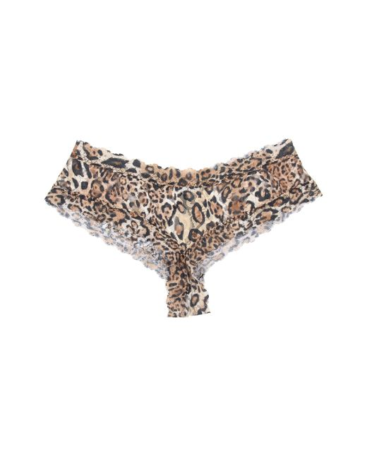Hanky Panky | Brown Leopard Nouveau Crotchless Cheeky Hipster | Lyst