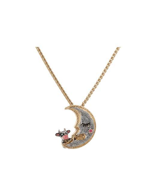 Betsey Johnson | Metallic Moon Pendant Necklace | Lyst