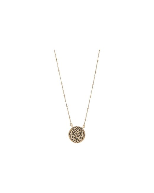 Lucky Brand | Metallic Urban Beat Carded Pave Necklace | Lyst