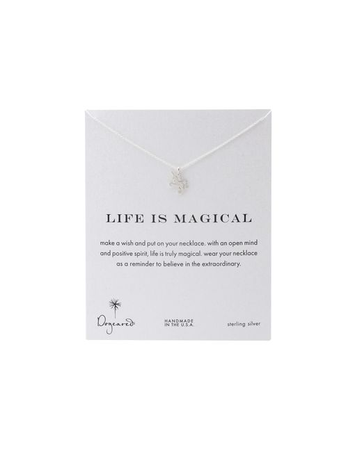 Dogeared | Metallic Life Is Magial Unicorn Reminder Necklace | Lyst