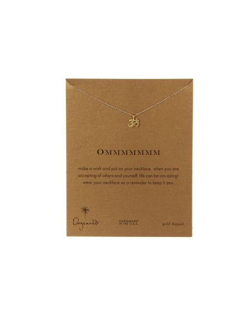 Dogeared | Metallic Om Reminder Necklace | Lyst